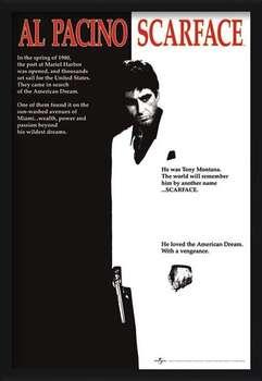 Rámovaný plakát Scarface - movie