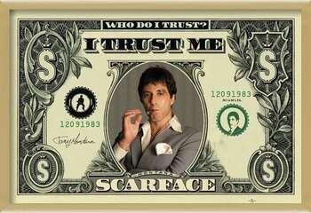 Rámovaný plakát SCARFACE - dollar