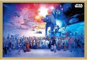 Rámovaný plakát Star Wars - Universe