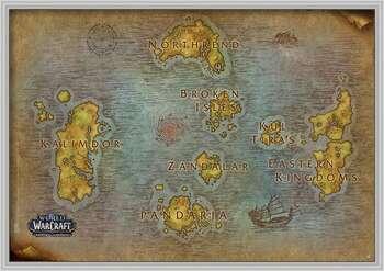 Rámovaný plakát World Of Warcraft - Map