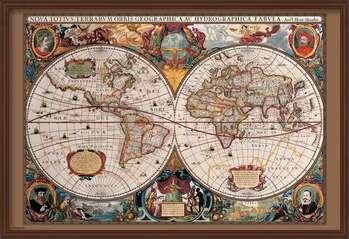 Rámovaný plakát World Map - 17th Century
