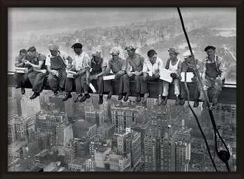 Rámovaný plakát Lunch on a skyscraper