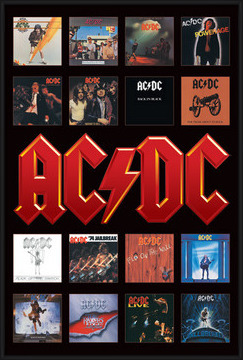 Plakát  AC/DC - album covers