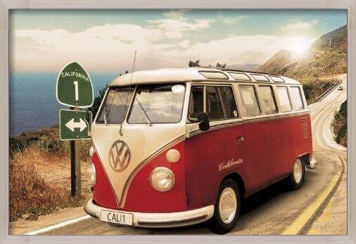 Plakát  Californian camper - Route one