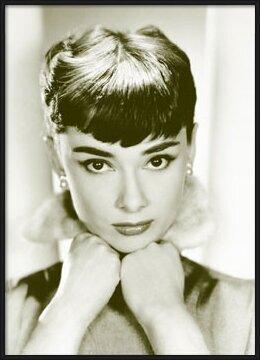 Plakát Audrey Hepburn - sepia
