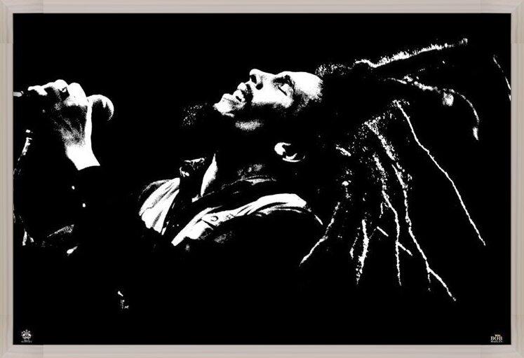 Plakát Bob Marley - black & white