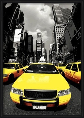 New York - yellow cabs 3D Plakát, 3D Obraz