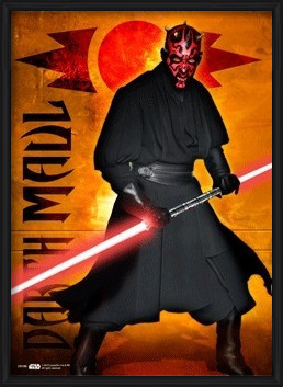 STAR WARS - darth maul 3D Plakát, 3D Obraz