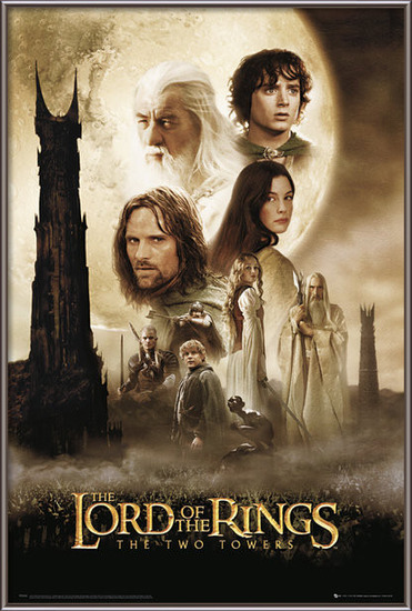 Plakát  Pán prstenů - two towers one sheet