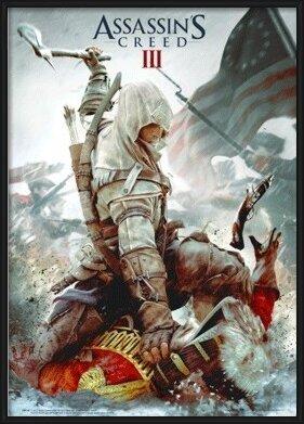 Assassin's Creed III. - cover 3D Plakát, 3D Obraz