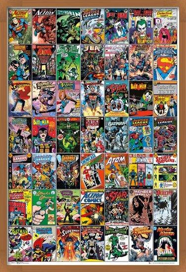 Plakát DC COMICS - comic covers
