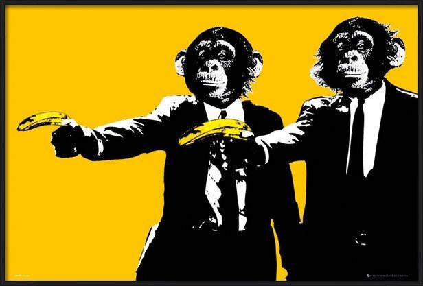 Plakát Monkeys - bananas