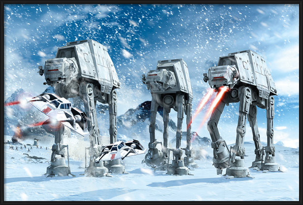 Plakát  STAR WARS - hoth battle