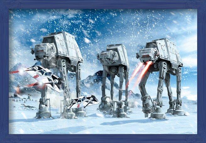 Plakát STAR WARS - hoth battle