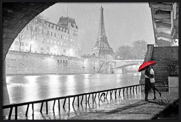 Plakát Paříž - Eiffel tower kiss