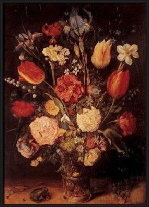 Obrazová reprodukce Jan Brueghel mladší - Váza s květinami