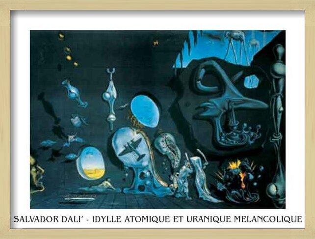Obrazová reprodukce  Melancholie - atomovo-uranová idyla, 1945