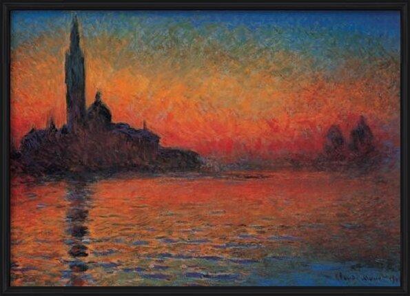 Obrazová reprodukce San Giorgio Maggiore za soumraku - Západ slunce v Benátkách (Stmívání v Benátkách)