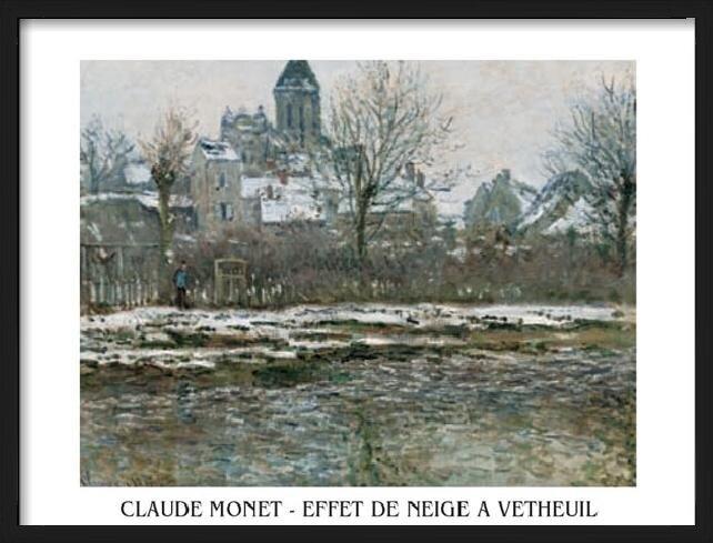 Obrazová reprodukce  Kostel ve Vétheuil pod sněhem, 1878