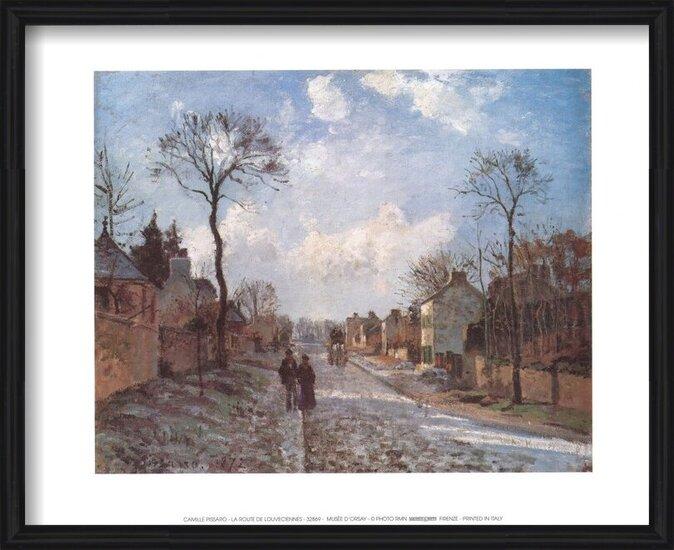 Obrazová reprodukce  Silnice v Louveciennes