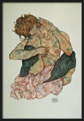 Obrazová reprodukce Sedící žena