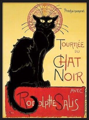 Obrazová reprodukce Tournée de Chat Noir - Černá Kočka