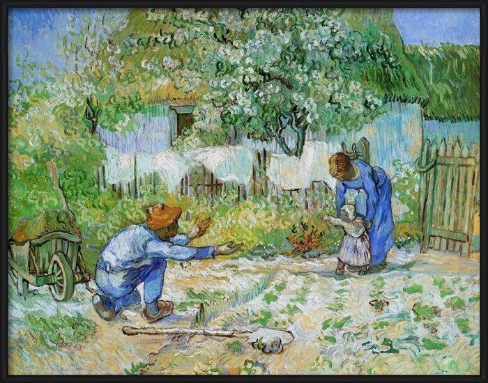 Obrazová reprodukce  První kroky (po Milletovi), 1890