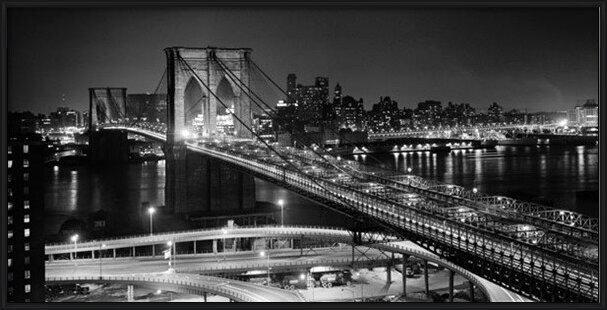 Obrazová reprodukce  New York - Brooklyn bridge v noci