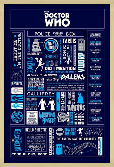 Plakát Doctor Who - Infographic