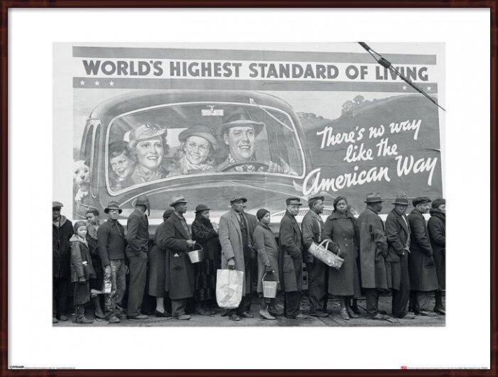 Obrazová reprodukce  Time Life - World's Highest Standard of Living