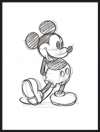 Obrazová reprodukce Myšák Mickey (Mickey Mouse) - Sketched Single