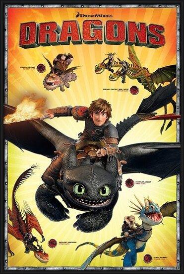 Plakát  Jak vycvičit draka 2 - Characters