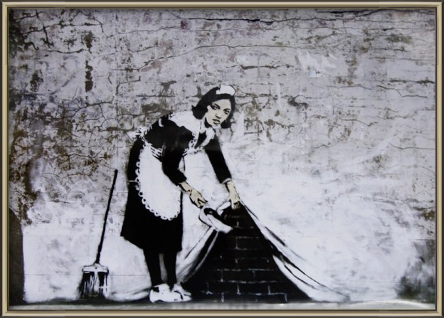 Plakát  Banksy Street Art - Cleaning Maid