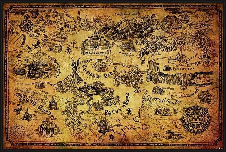 Plakát  The Legend Of Zelda - Hyrule Map