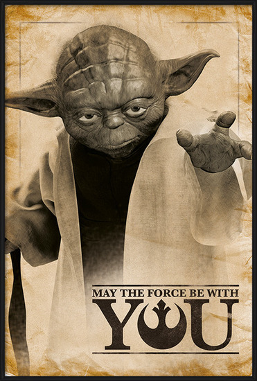 Plakát  Star Wars - Yoda, May The Force Be With You