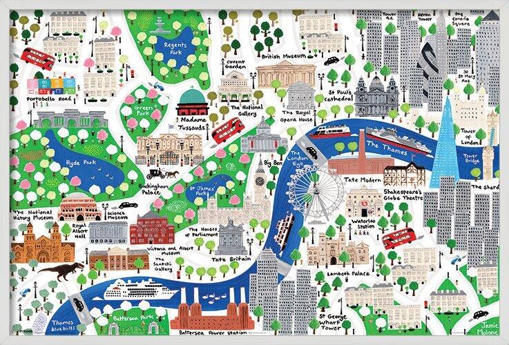 Plakát Jamie Malone - London