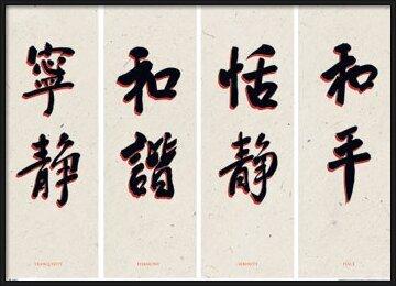 Plakát Chinese writing I.