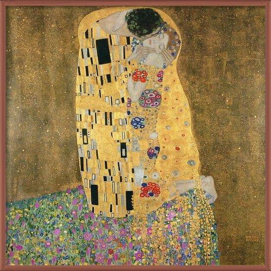 Obrazová reprodukce The Kiss, 1907-08