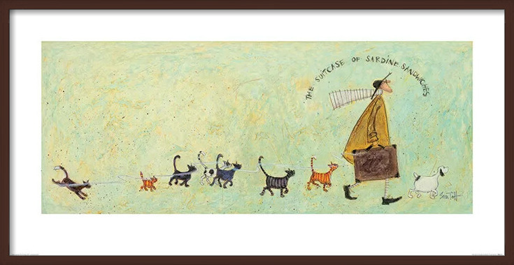 Obrazová reprodukce  Sam Toft - The Suitcase of Sardine Sandwiches