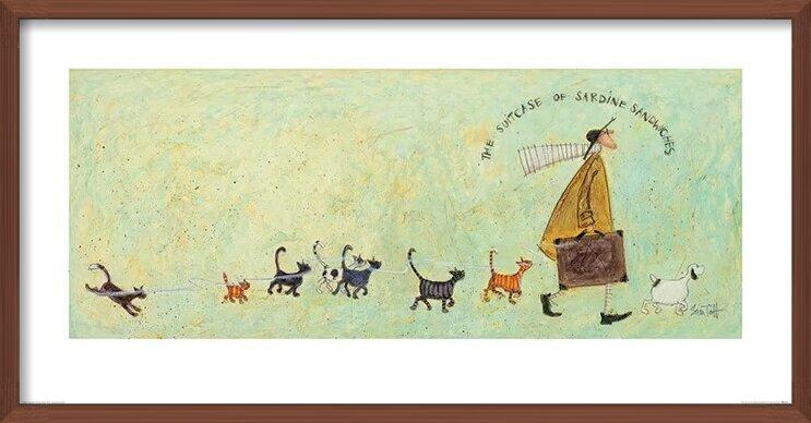 Obrazová reprodukce  Sam Toft - The Suitcase of Sardine Sandwiches