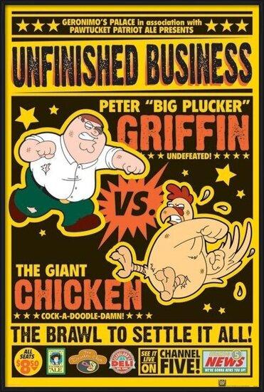 Plakát  FAMILY GUY - chicken fight