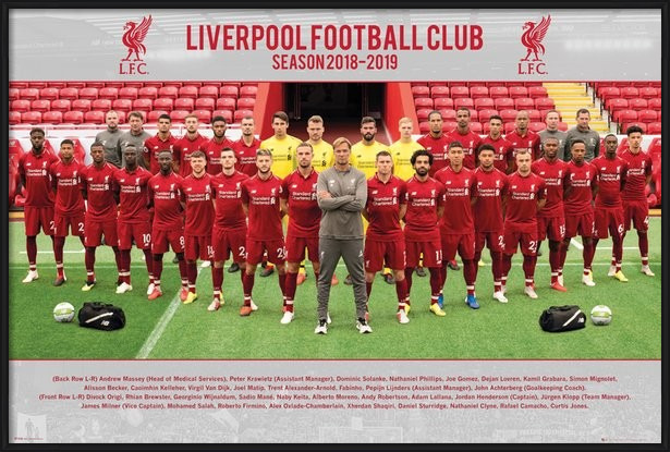 Plakát Liverpool FC - Team Photo 18-19