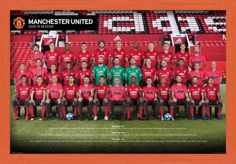 Plakát Manchester United - Players 18-19