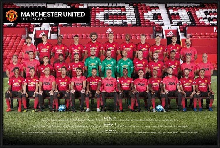 Plakát Manchester United - Players 18-19