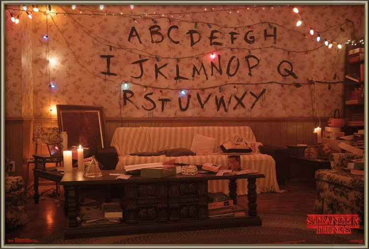 Plakát  Stranger Things - Alphabet