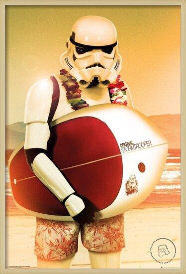 Plakát  Stormtrooper - Surf