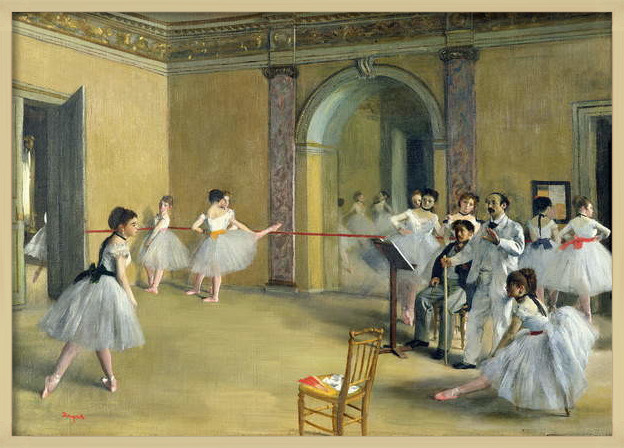 Obrazová reprodukce  The Dance Foyer at the Opera on the rue Le Peletier, 1872