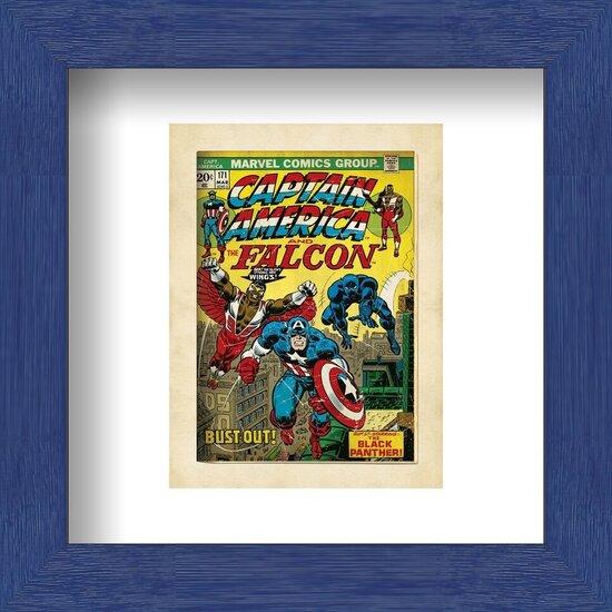 Obrazová reprodukce Marvel Comics - Captain America