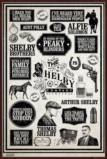 Plakát  Peaky Blinders - Infographic