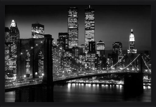 Plakát  Manhattan - night